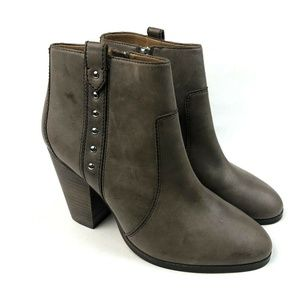 "Coach ""Haven"" Studded Taupe Ankle Booties"